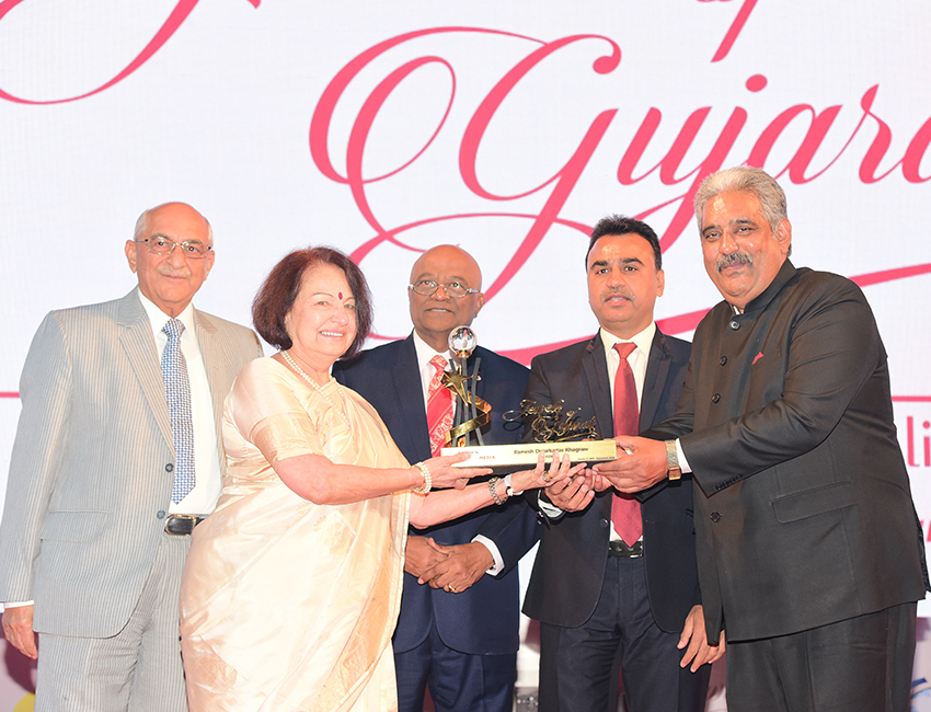 Ramesh Khagram Receiving Award